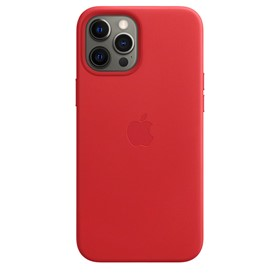Apple Leather Case iPhone 12 Pro Max with MagSafe Red
