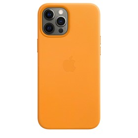 Apple Leather Case iPhone 12 Pro Max with MagSafe California Poppy