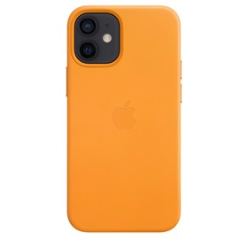 Apple Leather Case iPhone 12 mini with MagSafe California Poppy