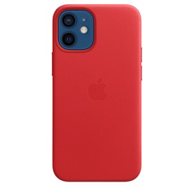 Apple Leather Case iPhone 12 mini with MagSafe Red