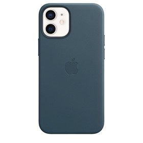 Apple Leather Case iPhone 12 mini with MagSafe Baltic Blue