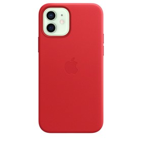 Apple Leather Case iPhone 12/12 Pro with MagSafe Red