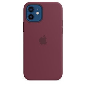 Apple Silicone Case iPhone 12 Pro Max with MagSafe Plum