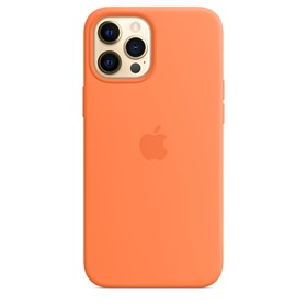 Apple Silicone Case iPhone 12 Pro Max with MagSafe Kumquat