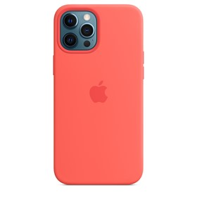 Apple Silicone Case iPhone 12 Pro Max with MagSafe Pink Citrus