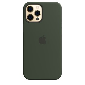 Apple Silicone Case iPhone 12 Pro Max with MagSafe Cypress Green
